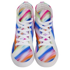 Vivid Colorful Wavy Abstract Print Women s Hi Top Skate Sneakers