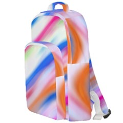 Vivid Colorful Wavy Abstract Print Double Compartment Backpack