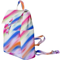 Vivid Colorful Wavy Abstract Print Buckle Everyday Backpack
