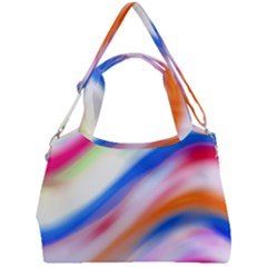 Vivid Colorful Wavy Abstract Print Double Compartment Shoulder Bag by dflcprintsclothing