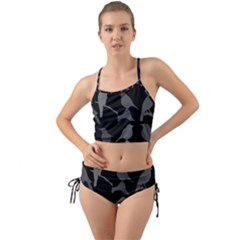 Bird Watching   Dark Grayscale   Mini Tank Bikini Set
