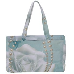 Wonderful Roses In Soft Colors Canvas Work Bag by FantasyWorld7