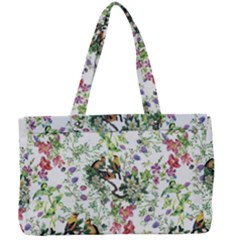 Nature Flora Pattern Canvas Work Bag by goljakoff