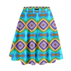Abstract Colorful Unique High Waist Skirt