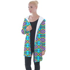 Abstract Colorful Unique Longline Hooded Cardigan by Alisyart