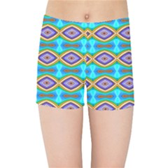 Abstract Colorful Unique Kids  Sports Shorts