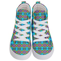 Abstract Colorful Unique Kids  Hi Top Skate Sneakers