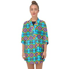 Abstract Colorful Unique Half Sleeve Chiffon Kimono by Alisyart