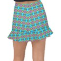 Abstract Colorful Unique Fishtail Mini Chiffon Skirt View2