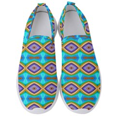Abstract Colorful Unique Men s Slip On Sneakers by Alisyart