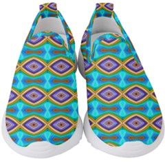 Abstract Colorful Unique Kids  Slip On Sneakers by Alisyart