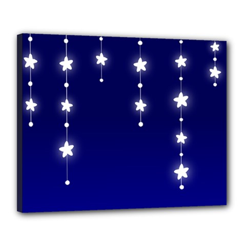 Star Background Blue Canvas 20  X 16  (stretched)