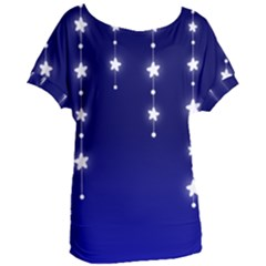 Star Background Blue Women s Oversized Tee by AnjaniArt
