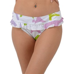 Birds Colourful Background Frill Bikini Bottom
