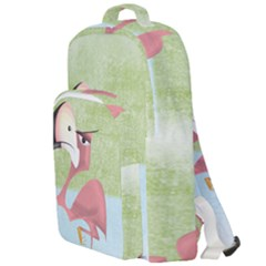 Flamenco Angry Illustration Bird Double Compartment Backpack