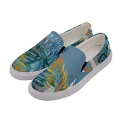 Capella Blue Women s Canvas Slip Ons by tangdynasty
