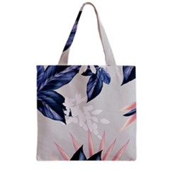 White Blossom Grocery Tote Bag by tangdynasty