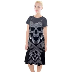 Skull Pirate Gun Roses Camis Fishtail Dress