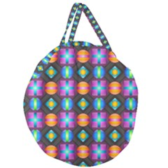 Squares Spheres Backgrounds Texture Giant Round Zipper Tote
