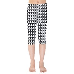 Optical Illusion Illusion Black Kids  Capri Leggings