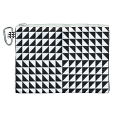 Optical Illusion Illusion Black Canvas Cosmetic Bag (xl)
