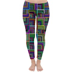 Wallpaper Background Colorful Classic Winter Leggings by Pakrebo