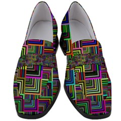 Wallpaper Background Colorful Women s Chunky Heel Loafers
