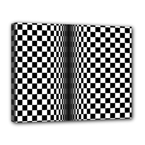 Art Optical Black White Contrast Canvas 14  X 11  (stretched)
