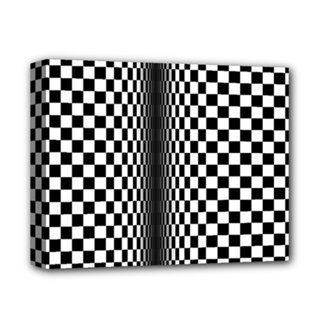 Art Optical Black White Contrast Deluxe Canvas 14  X 11  (stretched) by Pakrebo