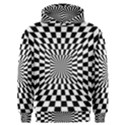 Optical Illusion Chessboard Tunnel Men s Overhead Hoodie View1