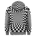 Optical Illusion Chessboard Tunnel Men s Overhead Hoodie View2