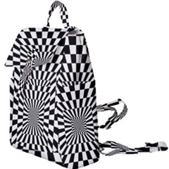 Optical Illusion Chessboard Tunnel Buckle Everyday Backpack