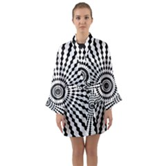 Starburst Sunburst Hypnotic Long Sleeve Kimono Robe