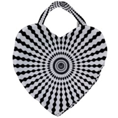 Starburst Sunburst Hypnotic Giant Heart Shaped Tote