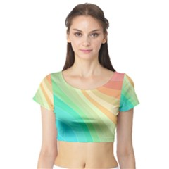 Arrangement Aesthetics Aesthetic Short Sleeve Crop Top
