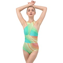 Arrangement Aesthetics Aesthetic Cross Front Low Back Swimsuit