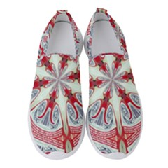 Kaleidoscope Background Bottles Women s Slip On Sneakers