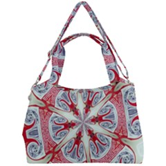Kaleidoscope Background Bottles Double Compartment Shoulder Bag