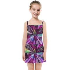 Fractal Circles Abstract Kids  Summer Sun Dress