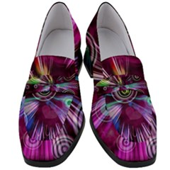 Fractal Circles Abstract Women s Chunky Heel Loafers