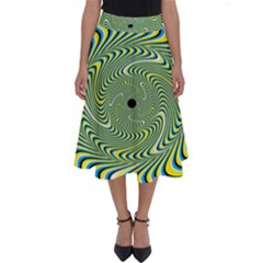 Illusion Idea Head Irritation Perfect Length Midi Skirt