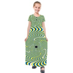 Illusion Idea Head Irritation Kids  Short Sleeve Maxi Dress by Pakrebo