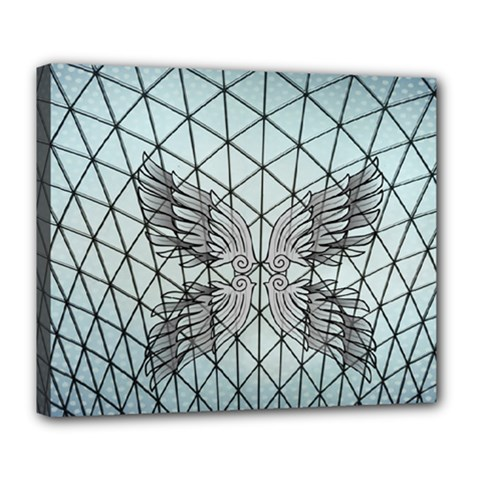 Graphic Pattern Wing Art Deluxe Canvas 24  X 20  (stretched)