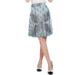 Graphic Pattern Wing Art A-line Skirt by Pakrebo