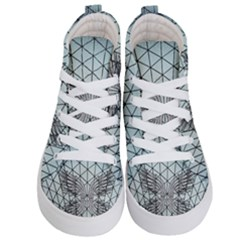 Graphic Pattern Wing Art Kids  Hi Top Skate Sneakers