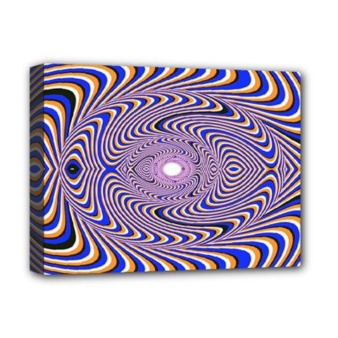 Illusion Head Idea Irritation Deluxe Canvas 16  X 12  (stretched)  by Pakrebo