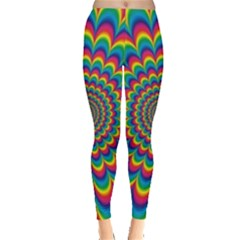 Psychedelic Colours Vibrant Rainbow Leggings