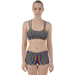 Psychedelic Colours Vibrant Rainbow Perfect Fit Gym Set