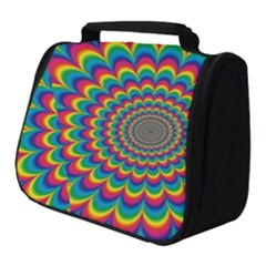 Psychedelic Colours Vibrant Rainbow Full Print Travel Pouch (small)