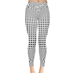 Illusion Form Shape Curve Design Leggings